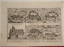 OSOR ŠIBENIK SPLIT HARCEG NOVI KOTOR TROGIR CROATIA 1753 SALMON ANTIQUE VIEWS