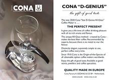 CONA coffee maker Size D-Genius