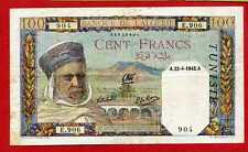 ( Ref: E.906)  BANQUE DE L' ALGÉRIE 100 FRANCS 22/04/1942 (SUP)