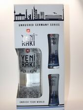 Yeni Raki Unrushed Germany Series 700 ml 45% 2 Gläser - FRANKFURT Edition 0,7 L