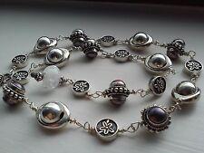 EK Designs SCULPTED ICE Real 925 Sterling Silver Necklace - 53.8 grams