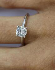 Vs2 14k White Gold Christmas Gift Nib Diamond Ring Solitaire Round 2.00 Ct D