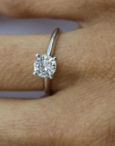 DIAMOND RING SOLITAIRE ROUND 2.00 CT D VS2 14k WHITE GOLD CHRISTMAS GIFT NIB