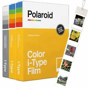 Polaroid Originals i-Type Core Film Triple Pack (2 Colour, 1 B&W) + FREE Wall...