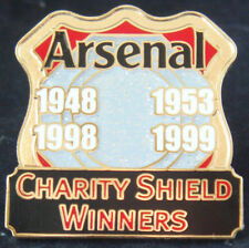 ARSENAL FC Victory Pins 4 Times winners of CHARITY SHIELD Danbury Mint badge