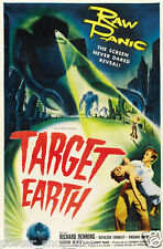 Target Earth Vintage Horror Movie Poster -24x36