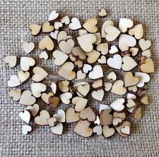 50 Pcs DIY 4 Sizes Wooden Love Heart Buttons Scrapbooking Craft Creative  Home
