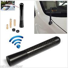 "Universal Black Carbon Fiber 3.14"" 80mm Aluminum Car Aerial Short Antenna FM/AM"