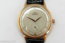 Vintage genuine OMEGA 2714 men's 18K gold automatic bumper watch fully revised