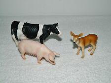 Schleich Germany Farm Animals Holstein Cow Pig & Deer Toy Figurines