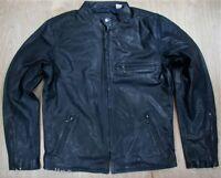 Levis Leather Moto Jacket Nightwatch Blue Levis Retro Styled Levi's Biker Levi