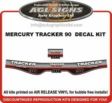 MERCURY TRACKER 90 hp decal set reproductions  1986 1987 1988 1989