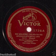 Kirsten Flagastad on 78 rpm Victor 1726: Die Walküre-Ho-yo-to-yo/Allerseelen