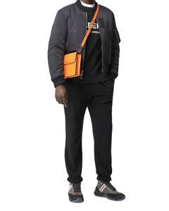 Burberry Triple Stud Medium Crossbody Bag Orange Leather New