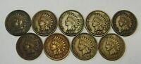 "1899 1900 1901 1902 1903 1904 1905 1906 1907 Indian Cents Full ""LIBERTY"" VF Run"