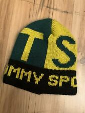 Vintage Mens Tommy Hilfiger Tommy Sport Beanie Cap-Green Bay Packers Colors