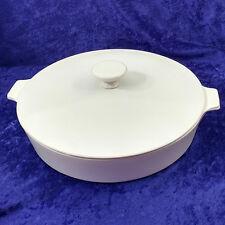 "Centura White Corning Ware 10"" Skillet with Lid Vintage Pan"