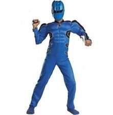 Power Rangers Muscle Costume Jungle Fury BLUE Ranger + Mask Boy's size 7/8 New