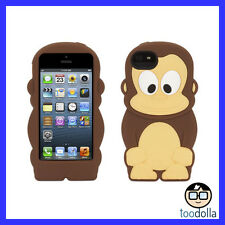 GRIFFIN Kazoo, silicone case, fun & cute for adults & kids, iPhone 5/5s, Monkey