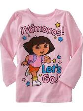 NWT 12-18 MON OLD NAVY DORA THE EXPLORER VAMONOS T SHIRT LONG SLEEVE T TOP GIRLS