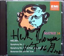 Herbert BLOMSTEDT Signiert NIELSEN Symphony No.1 2 Bohemian-Danish Folk Tune CD