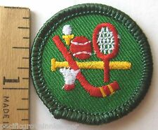Girl Scout 2001-2011 Junior SPORTS SAMPLER BADGE Hockey Tennis Baseball Patch
