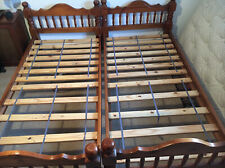Two Solid Wood Single Beds 6ft