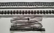 ANCIENNES  DENTELLES NOIRES - PETIT LOT