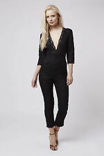 TOPSHOP PETITE ALL OVER LACE PLUNGE JUMPSUIT UK 10 US 6 EUR 38 BNWT SOLD OUT