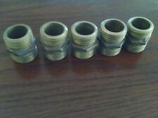 "Nibco 3/4"" X 3/4"" X 1 1/4"" Long Brass Nipple Threaded Both Ends Lot of 5"