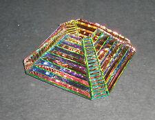 Piramide Cristallo Peacock Maya GLASS CRYSTAL COLOUR PYRAMID ORNAMENT 108858-50