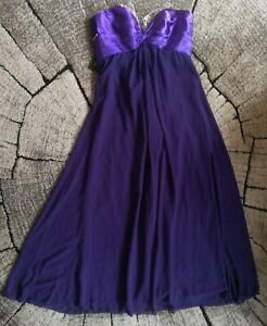 grace karin purple long dress prom wedding bridesmaid UK 18
