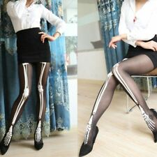 Transparent Sheer Punk Pantyhose Skeleton Tights Tights Tattoo Stockings