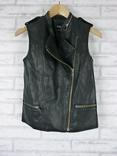 SPORTSGIRL Sz 6 Jacket Vest Faux Leather  Biker Style