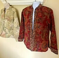 Coldwater Creek Women's Floral Jacket Lot Of 2 Tapestry Size Small