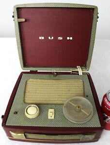Vintage Late 1950s Bush BP81 Attache Jewel Case Valve Portable Radio  FREEPOST