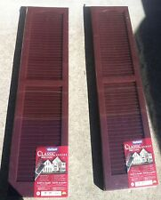Vantage 14 x 59 Raised Panel Shutters(Pair), Cranberry, Pair !!BRAND NEW!!