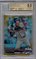 DREW WATERS ROOKIE 2017 Bowman Chrome GOLD REFRACTOR BGS 9.5 GEM MINT Braves