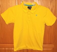 Mens HURLEY~YELLOW POLO SHIRT~size MEDIUM~NEW~Rugby Golf LOGO Knit Top NWOT