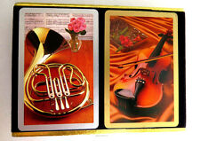 Musical Instruments Playing Cards by Congress French Horn Violin Double Deck