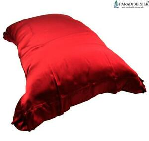 One Charmeuse 19MM Soft Silk Travel Pillow Cover With Flouncing Hem