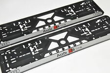 2x CAR LICENCE NUMBER PLATE SURROUNDS HOLDER FRAMES For Audi S-LINE
