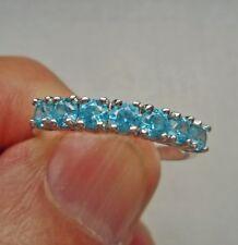 Silberringmit Blautopasen -Gr. 19 -NEU
