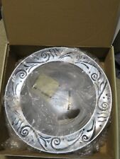 "New in Box 13"" Lenox Spyro Metal Serveware Vegetable Serving Bowl Silver Color"