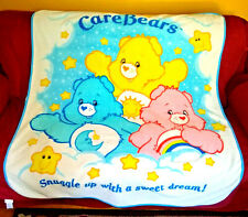 Care Bears SNUGGLE UP WITH A SWEET DREAM! Fleece Throw Lap Blanket 2004