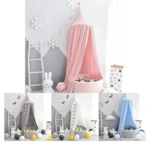 Bed Canopy Mosquito Net for Kids Baby Crib Princess Play Tent House Decor 94.5''