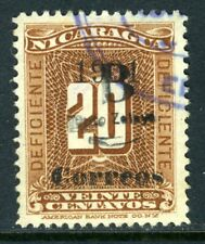 Nicaragua 1905 Bluefields 20¢ Brown Postage Due VFU T766