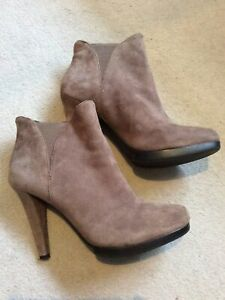 M&S Autograph Suede High Heeled Ankle Boots Size 5 VGC