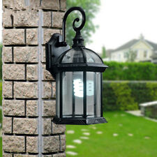 Outdoor Wall Lights Garden Glass Wall Sconce Black Wall Lighting Porch Wall Lamp