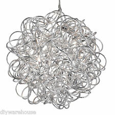 SEARCHLIGHT 9432 SUPERB QUALITY SCRIBBLE 6 LIGHT TANGLED ALUMINIUM PENDANT. NEW